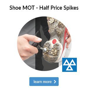 Shoe MOT- 1/2 Price Spikes Fitted