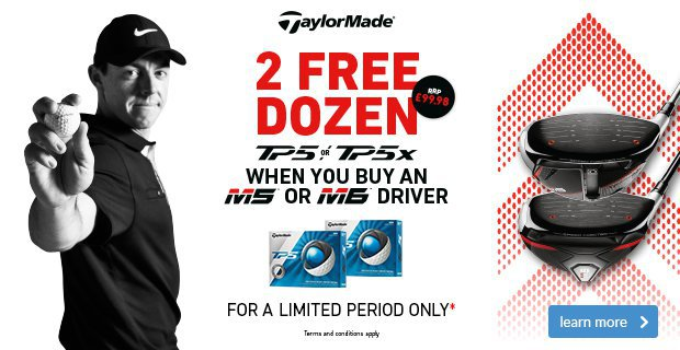 TaylorMade M5 & M6 Driver Promotion