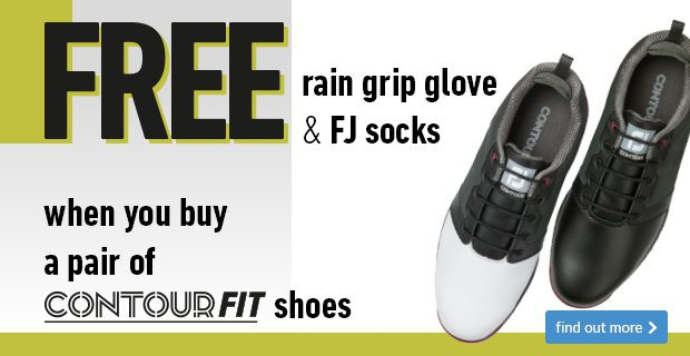 Free rain grip glove and FJ socks with ContourFIT