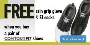 Free rain grip glove and FJ socks with ContourFIT