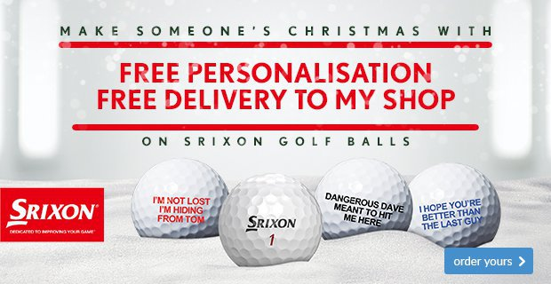 Srixon Free Ball Personalisation - from £24.99