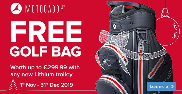 Motocaddy Free Bag Offer Worth Up To €299.99