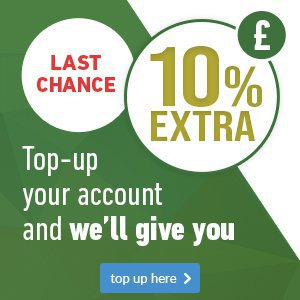 Get an extra 10% on your account
