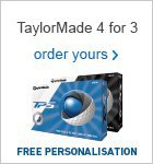TaylorMade 4 for 3 with personalisation - £39.99