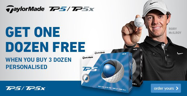 TaylorMade 4 for 3 with personalisation - £41.99