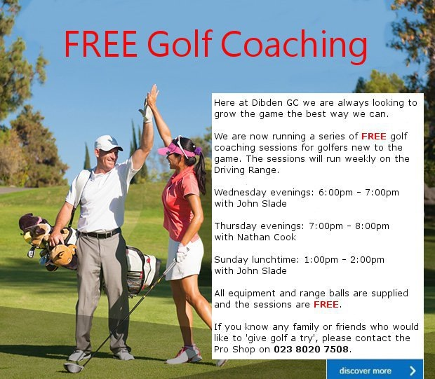 FREE Golf Coaching at Dibden GC…
