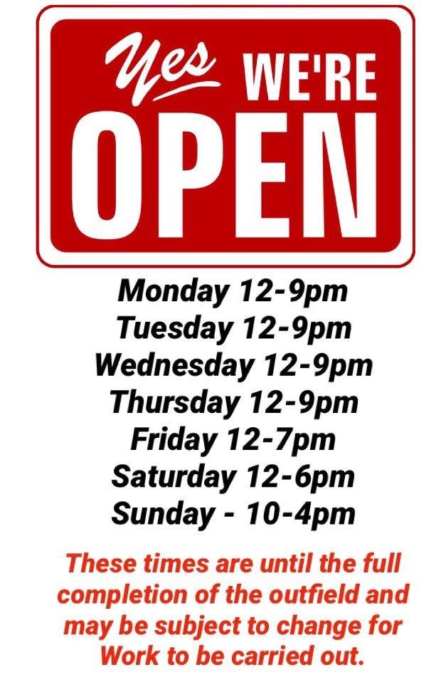 We're open…