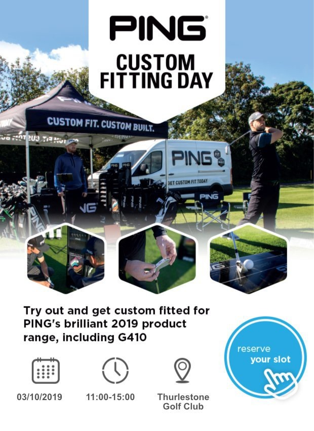 Don't miss our PING fitting day…