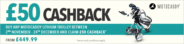 £50 cashback with Motocaddy