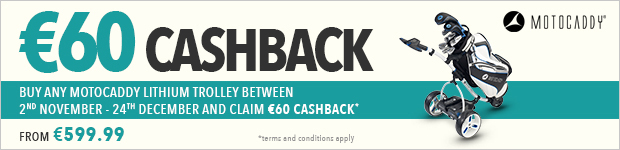 €60 cashback with Motocaddy