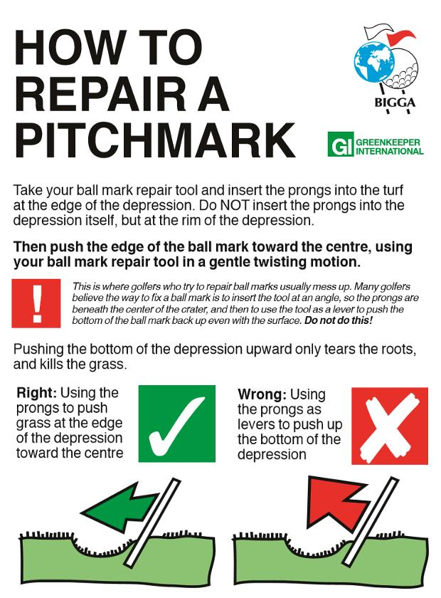 how to repair a pitchmark