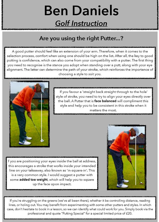 are you using the right putter ben daniels