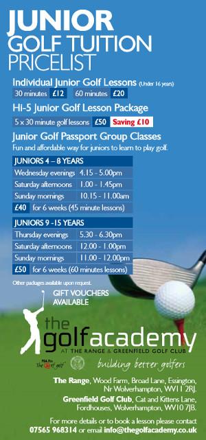 Junior Price List