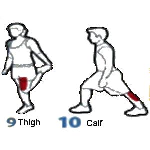 Calf and Thigh stretch