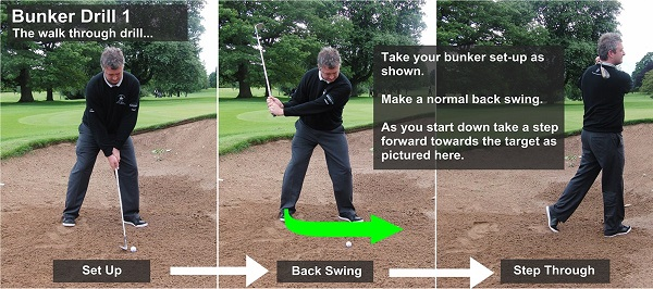 bunker drills golf