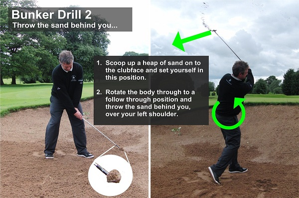 bunker drill how to sand golf