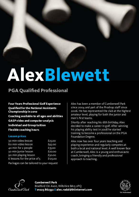 alex blewett lesson fees