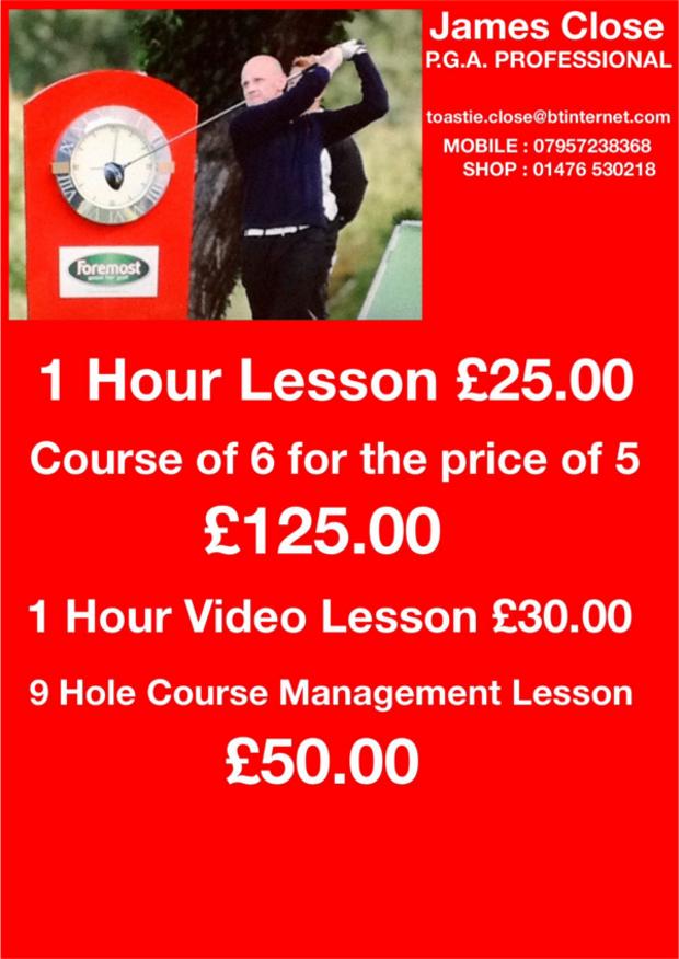 James Close Assistant Lesson Prices