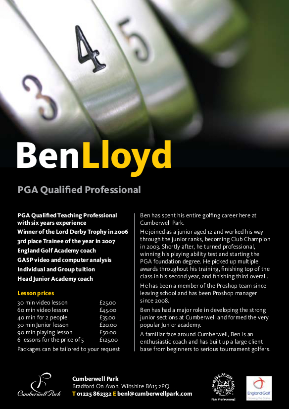 ben lloyd lesson fees