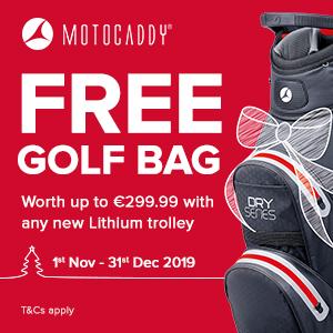 Motocaddy free bag offer