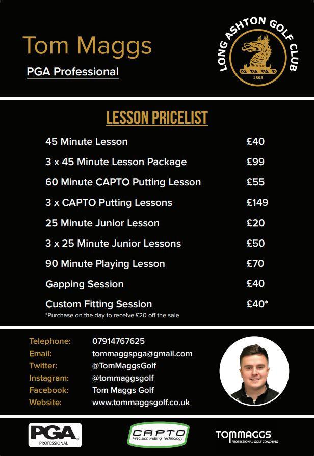 Tom Maggs Lesson Prices